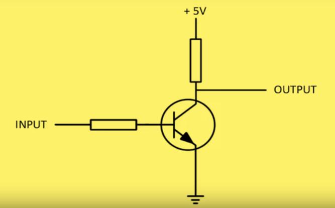 representationofNOTgateusingresistorsandtransistors.png